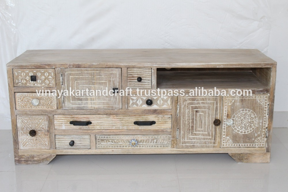 Awesome New Mango Wood TV Cabinets Intended For Latest Design Tv Unit Latest Design Tv Unit Suppliers And (Image 6 of 50)