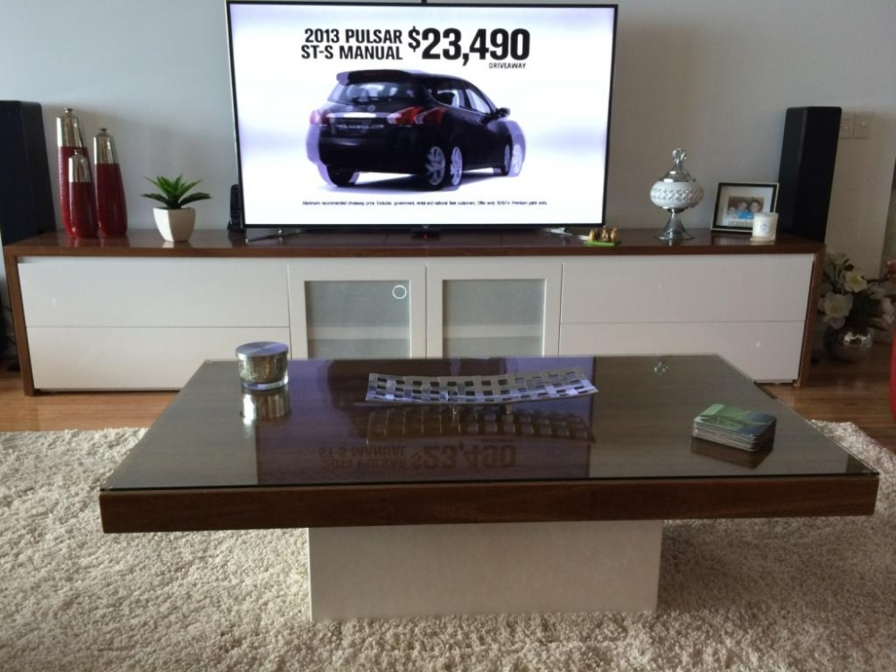 Awesome New Matching Tv Unit And Coffee Tables Inside 2scale Cabinets Custom Pieces (Image 9 of 40)