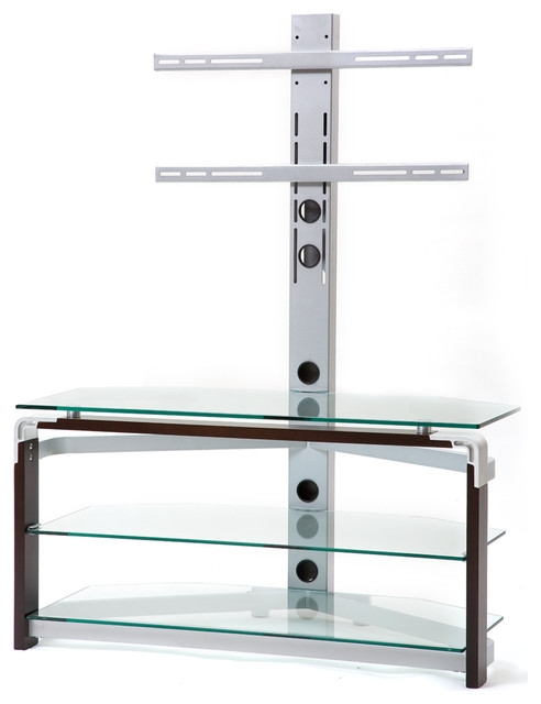 Awesome New Modern Glass TV Stands Regarding Tempered Glass Tv Stand Modern Entertainment Centers And Tv (Image 6 of 50)