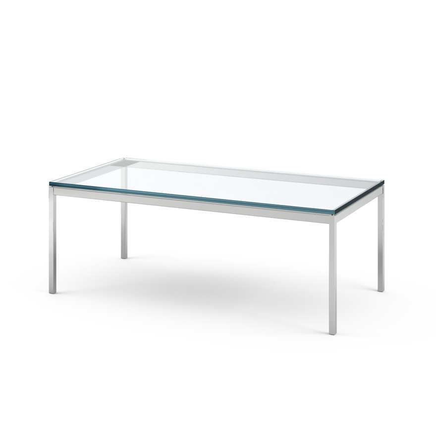 Awesome New Rectangle Glass Chrome Coffee Tables Pertaining To Florence Knoll Coffee Table 45 X 22 Knoll (Image 3 of 50)