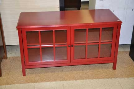 Awesome New Red TV Stands Regarding Windham Media Cabinet Tv Stand Red Shop Checkouts (Image 6 of 50)