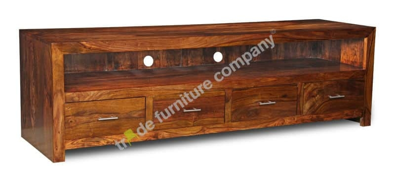 Awesome New Sheesham Wood TV Stands Regarding Cube Tv Stand Sheesham Furniture (View 14 of 50)