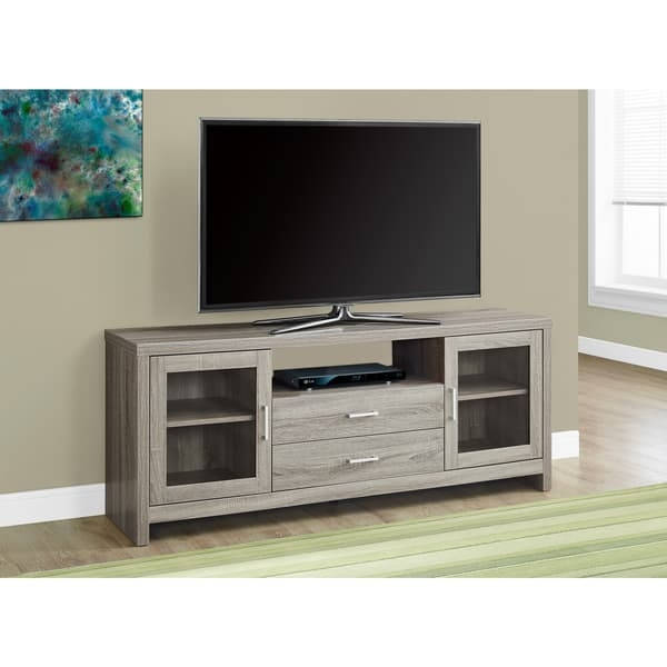 Awesome New Storage TV Stands Inside Dark Taupe 60 Inches Long Storage Tv Stand Free Shipping Today (Image 6 of 50)