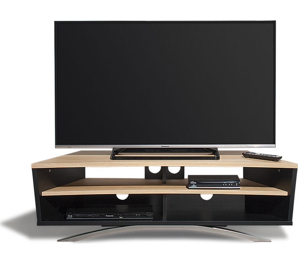 Awesome New Techlink TV Stands Sale Inside Buy Techlink Prisma Pr130sblo Tv Stand Free Delivery Currys (Image 6 of 50)