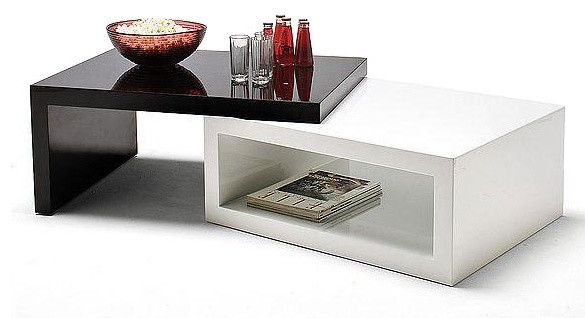 Awesome New White And Black Coffee Tables Inside Black And White Coffee Table (Image 8 of 40)
