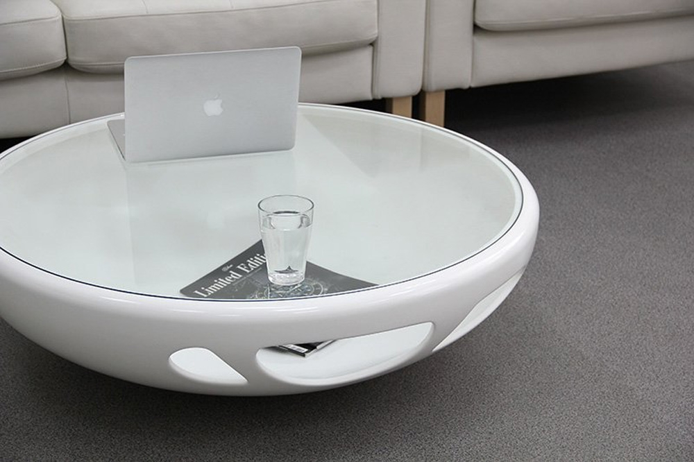 Awesome New White Circle Coffee Tables Regarding Best Modern Round Coffee Table (Image 3 of 50)