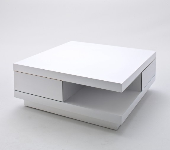 Awesome New White Gloss Coffee Tables For Coffee Table High Gloss White With 2 Pull Out Drawers (Image 5 of 50)