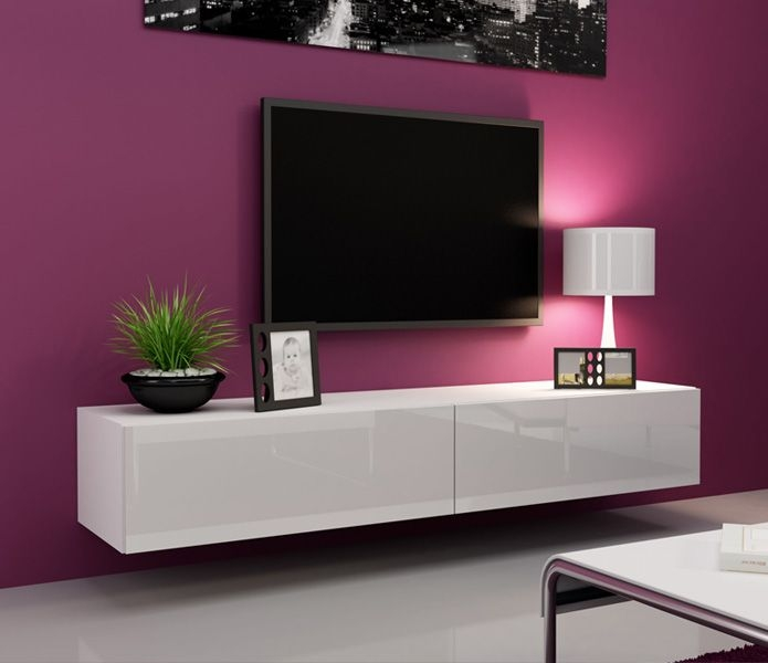 Awesome New White Gloss TV Cabinets With Regard To Best 20 Black Gloss Tv Unit Ideas On Pinterest Floating Tv Unit (Image 4 of 50)