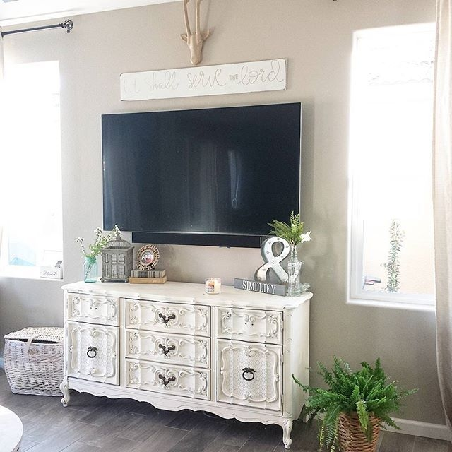 Awesome New White Rustic TV Stands Intended For Best 25 Tv Stand Makeover Ideas Only On Pinterest Dresser Tv (Image 4 of 50)
