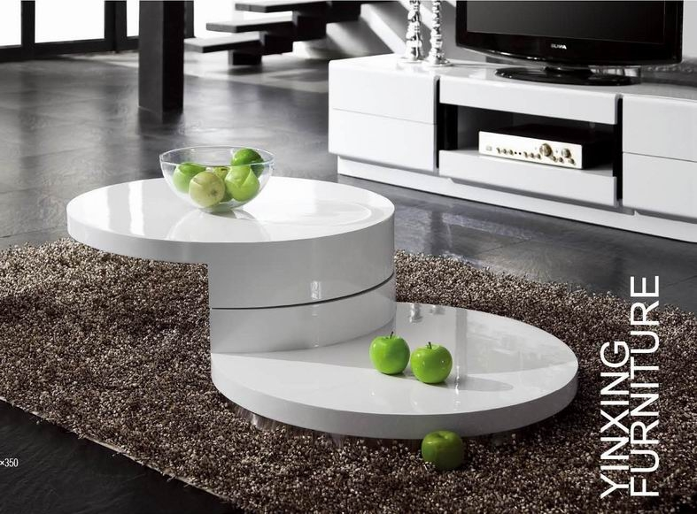 Awesome Popular Coffee Tables White High Gloss Throughout Modern Coffee Table White (Image 4 of 40)