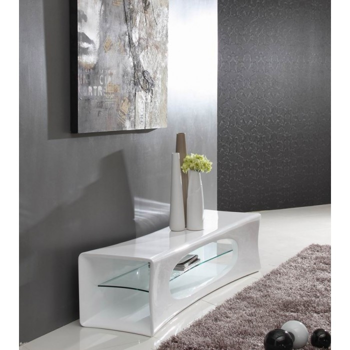 Awesome Popular Contemporary White TV Stands With Regard To Geo Contemporary White Tv Stand (Image 5 of 50)