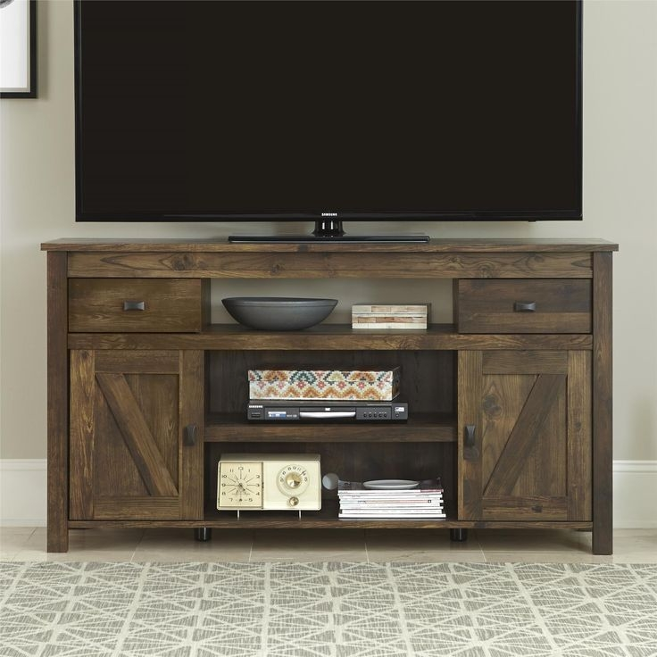 Awesome Popular Dark Brown Corner TV Stands Intended For 25 Best Rustic Tv Stands Ideas On Pinterest Tv Stand Decor (View 26 of 50)
