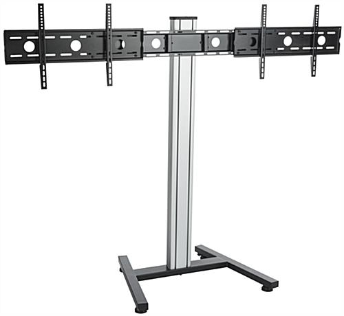 Awesome Popular Dual TV Stands Inside Dual Screen Floor Stand Height Adjustable Mount (Image 9 of 50)