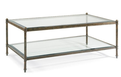 Awesome Popular Glass And Metal Coffee Tables Intended For Iron And Glass Coffee Table (Image 11 of 50)