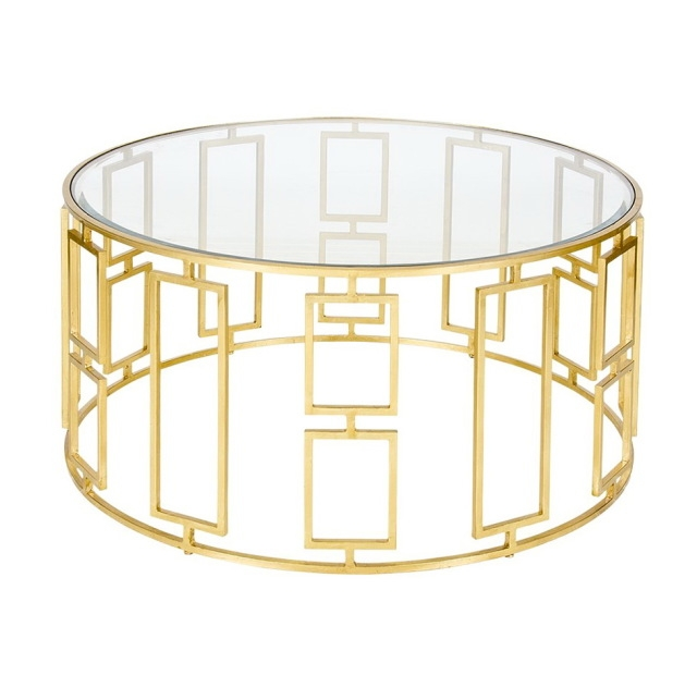 Awesome Popular Glass Gold Coffee Tables Intended For Coffee Table Gold (View 46 of 50)