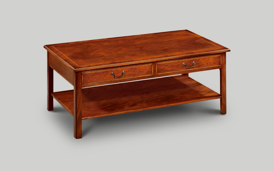 Awesome Popular Mahogany Coffee Tables Regarding Classical English Reproduction Occasional Furniture (Image 4 of 50)
