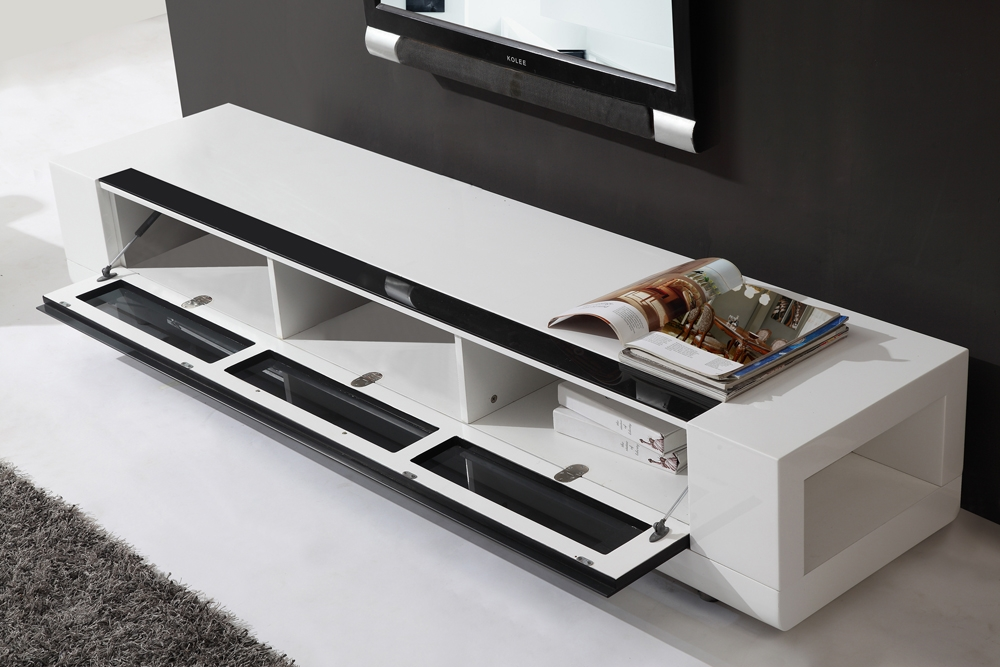 Awesome Popular Modern White TV Stands For B Modern Editor Remix Tv Stand White High Gloss B Modern (Image 9 of 50)