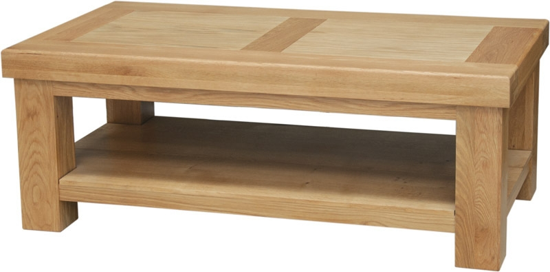 Awesome Popular Oak Coffee Tables With Shelf Intended For Simple Steps To Pick Oak Coffee Table Internationalinteriordesigns (Image 4 of 40)
