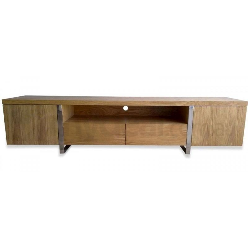 Awesome Popular Oak Veneer TV Stands Throughout New York Natural Oak Veneer Lowline Modern Tv Unit Buy Modern Tv (View 33 of 50)