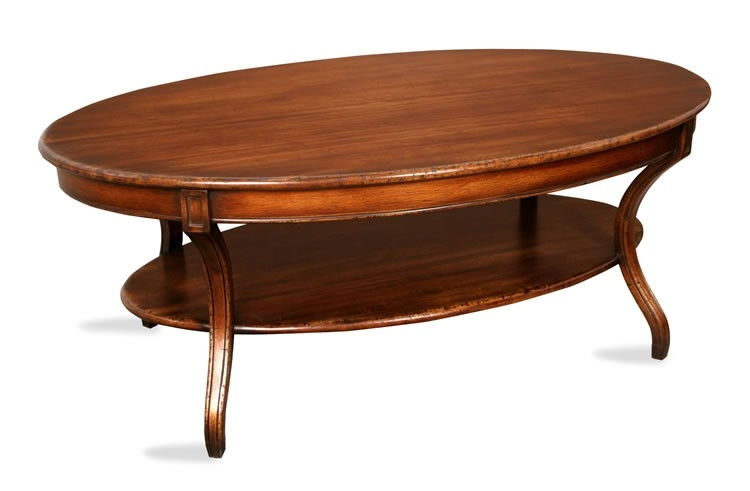 Awesome Popular Oval Walnut Coffee Tables With Regard To Coffee Table Interesting Oval Coffee Tables Living Room Coffee (Image 6 of 50)