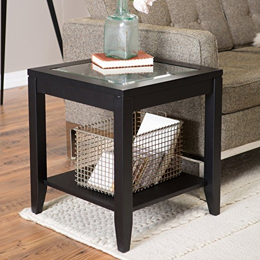 Awesome Popular Retro Glitz Glass Coffee Tables Within Amazon Shel Glass Top End Table With Quatrefoil Underlay (Photo 27 of 50)