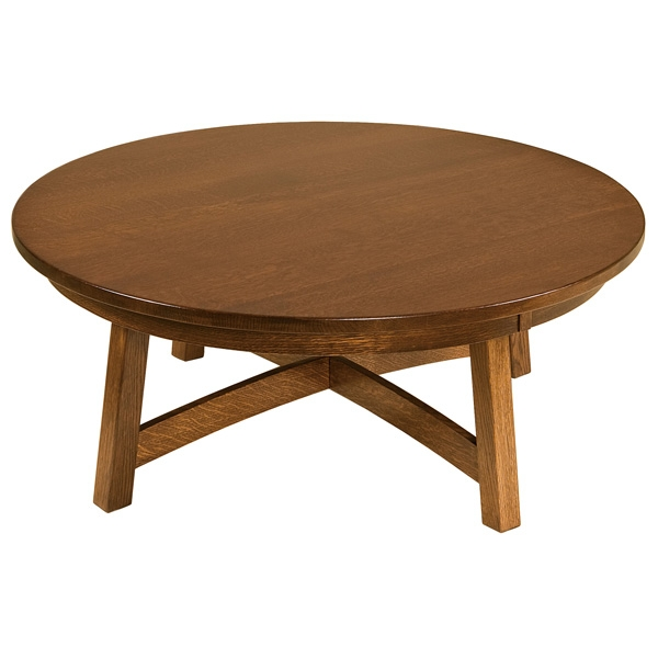 Awesome Popular Round Pine Coffee Tables Intended For Amish Coffee Tables Amish Furniture Shipshewana Furniture Co (Image 5 of 50)