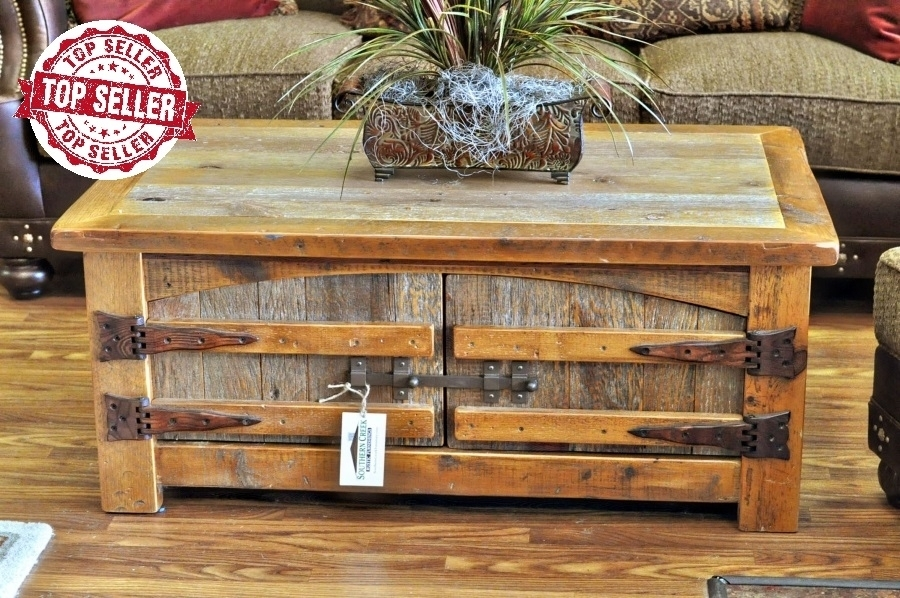 Awesome Popular Rustic Barnwood Coffee Tables With Regard To Barn Wood Furniture Southern Creek Rustic Furnishings (View 50 of 50)