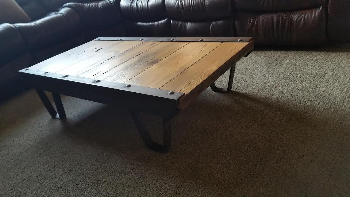Awesome Popular Rustic Barnwood Coffee Tables With Regard To Buy A Custom Barn Wood Industrial Rustic Coffee Table Made From (View 26 of 50)