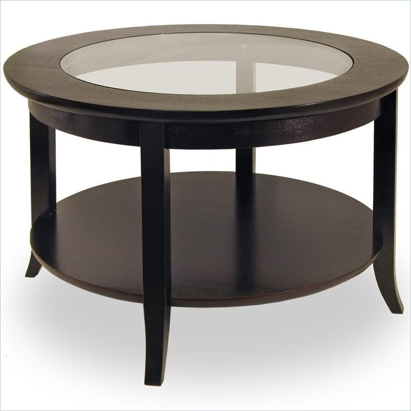 Awesome Popular Small Circle Coffee Tables In Dark Wood Side Table Sale Round Occasional Tables Uk (Image 7 of 50)
