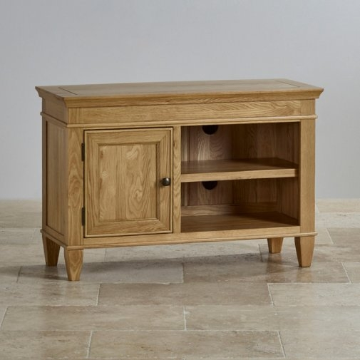 Awesome Popular Small Oak TV Cabinets Throughout Tv Cabinets Units 100 Solid Hardwood Oak Furniture Land (View 42 of 50)