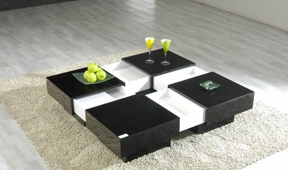 Awesome Popular Square Shaped Coffee Tables With Regard To Contemporary Coffee Tables Completing Living Room Interior Design (Image 5 of 50)