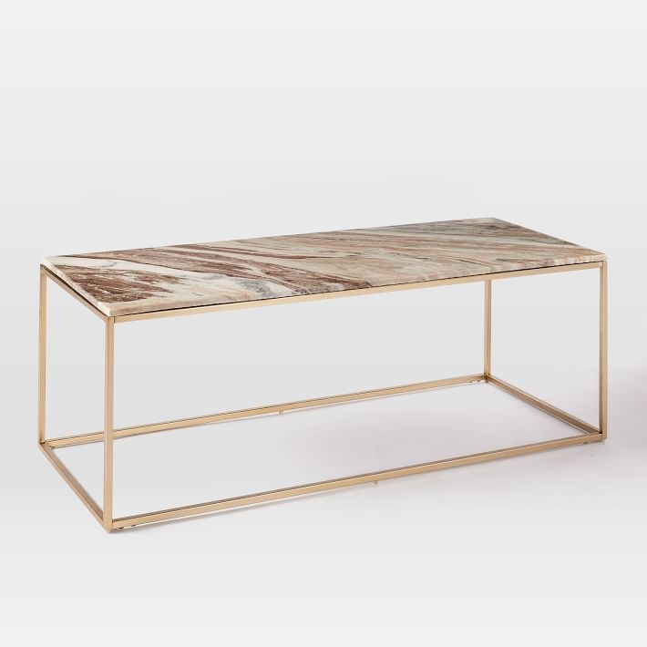 Awesome Popular Swirl Glass Coffee Tables For Mira Coffee Table Swirled Sorbet West Elm (Image 9 of 50)