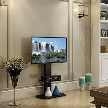 Awesome Popular Swivel TV Stands With Mount With Regard To Amazon Fitueyes Floor Tv Stand With Mount Swivel For 32  (Image 10 of 50)