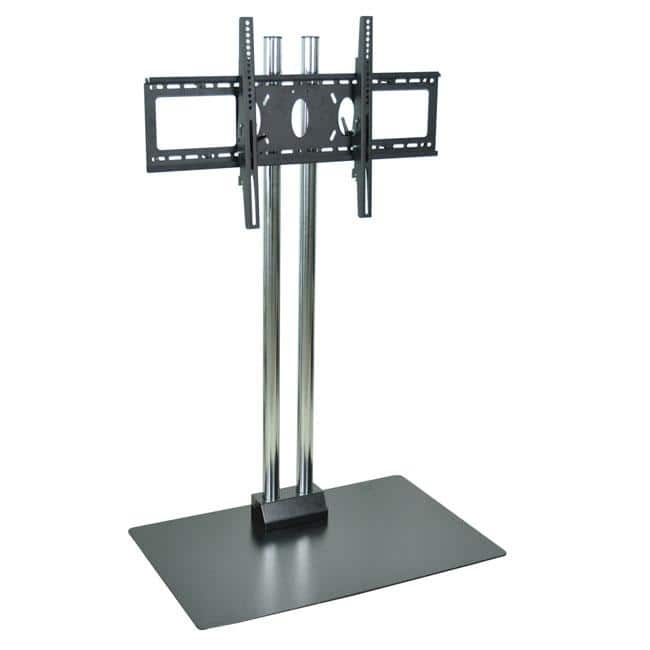 Awesome Popular TV Stands For Plasma TV Regarding Luxor Wilson Chrome Plasma Tv Stand Free Shipping Today (Image 6 of 50)