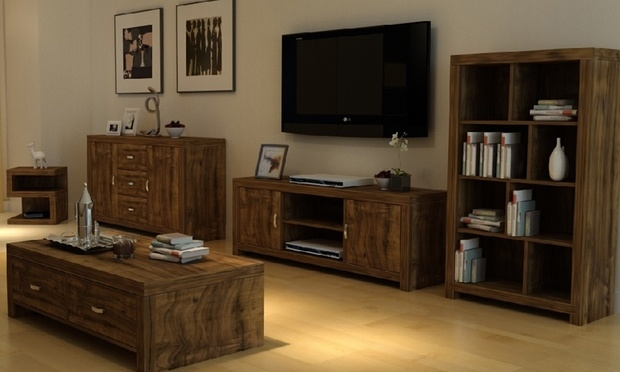 Awesome Popular Tv Unit And Coffee Table Sets Within Portland Acacia Furniture Groupon Goods (Image 6 of 50)