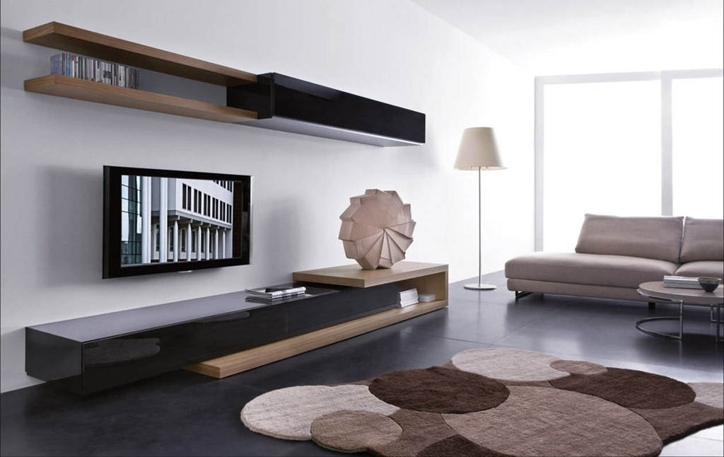 Awesome Popular Unusual TV Stands For Living Room Marvelous Tv Room Ideas With Brown Wooden Tv Stand (Image 11 of 50)