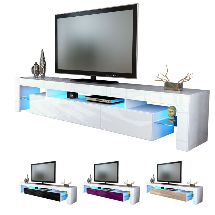 Awesome Popular White High Gloss TV Stands Unit Cabinet Within Kukaze Mens Fleece Thermal Winter Cycling Long Sleeve Jersey Bike (Image 5 of 50)