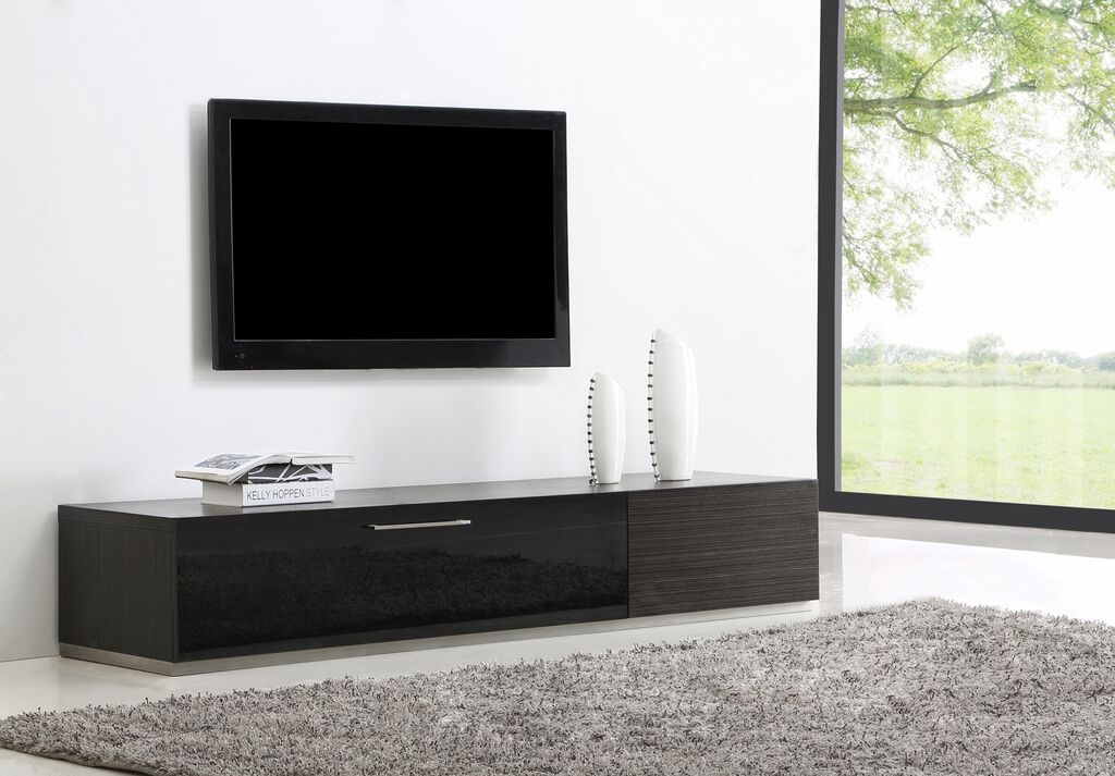 Awesome Preferred BModern TV Stands Intended For Producer Tv Stand Grey Ebony B Modern Modern Manhattan (Image 9 of 50)
