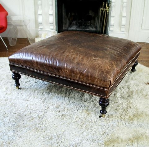 Awesome Preferred Brown Leather Ottoman Coffee Tables Pertaining To Best 25 Leather Ottoman Ideas Only On Pinterest Moroccan Pouf (Image 6 of 50)