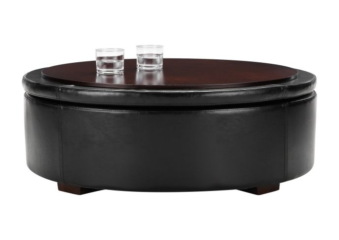 Awesome Preferred Circular Coffee Tables With Storage With Round Coffee Table With Storage Ottomans Adjustable Height Round (Image 6 of 50)