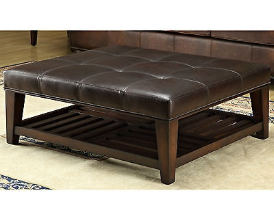 Awesome Preferred Coffee Table Footrests For Hand Finished Leather Ottoman Coffee Table Footrest Seating Bench (Image 10 of 40)