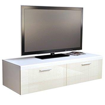 Awesome Preferred Cream Gloss TV Stands Regarding Tv Stand Unit Atlanta In White Matt Cream High Gloss Amazonco (Image 5 of 50)