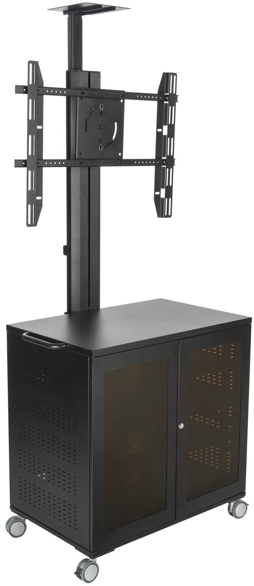 Awesome Preferred Lockable TV Stands With Regard To Rolling Tv Stand Mobile Racks And Carts With Locking Casters (Image 8 of 50)