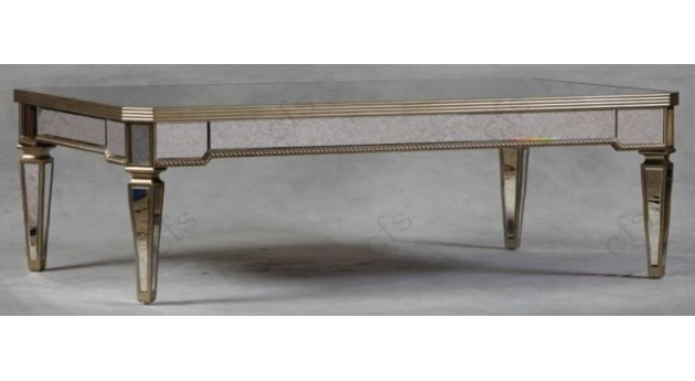 Awesome Preferred Mirrored Coffee Tables Within Large Santos Mirrored Coffee Table Silver Coffee Tables (Image 4 of 50)