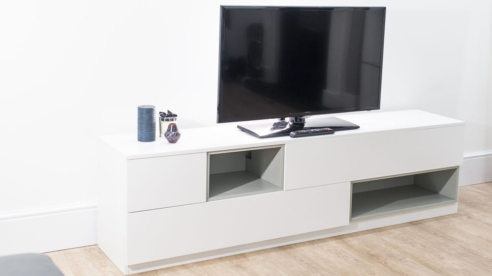 Awesome Preferred Modern Oak TV Stands Intended For White And Oak Tv Unit Ez Living Furniture Thumb18231 One Drawer (View 49 of 50)