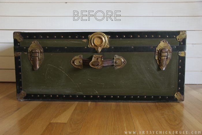 Awesome Preferred Old Trunks As Coffee Tables In 5 Old Trunk Coffee Table A Thrifty Makeover Artsy Chicks Rule (Image 4 of 50)