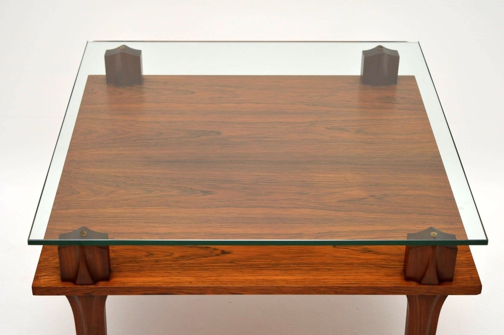 Awesome Preferred Retro Teak Glass Coffee Tables Throughout Retro Teak Glass Coffee Table Vintage 1960s Restrospective (View 32 of 50)