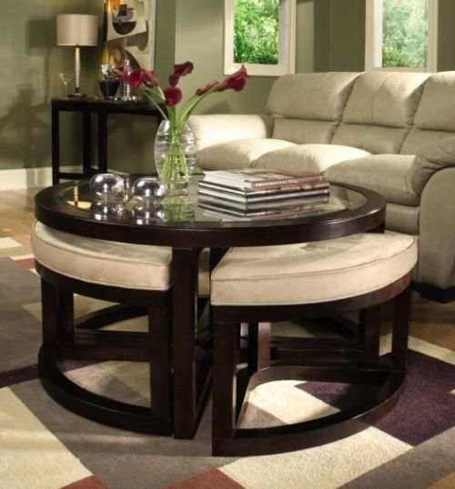 Awesome Preferred Round Storage Coffee Tables In Round Storage Ottoman Coffee Table (Image 10 of 50)