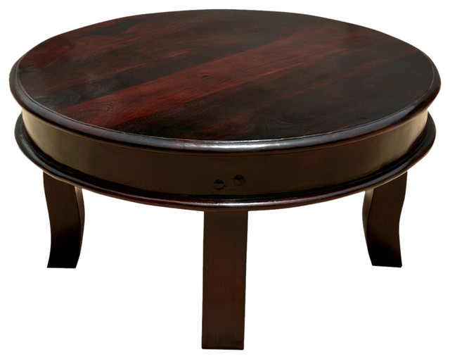 Awesome Preferred Solid Round Coffee Tables Throughout Sierra Full Moon Solid Wood 36 Round Coffee Table Transitional (Image 2 of 40)