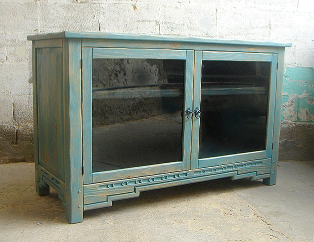Awesome Preferred TV Stands Cabinets Regarding Oak Tv Stand With Glass Doors Un Varnish Teak Wood Media Cabinet (Image 6 of 50)